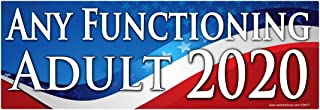 AZ House of Graphics Any Functioning Adult 2020 Sticker - #FS677 Laminated Political Funny Bumper Car Truck Window Election Vinyl Decal USA