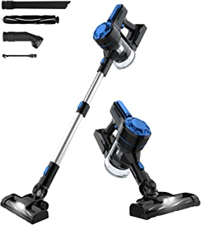 Advwin Cordless Vacuum Cleaner, 3 in 1 Powerful 7-12Kpa Motor Stick Vacuum, Lightweight Stick Hand Vacuum Cleaner with LED...