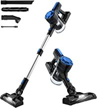 Advwin Cordless Vacuum Cleaner, 7-12Kpa Lightweight Quiet Suction Vacuum, 3 in 1 Stick Hand Vacuum Cleaner with LED Light ...