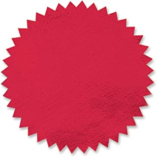 Red Foil Embossed Scallop Edge Certificate Seals, 102 Pack