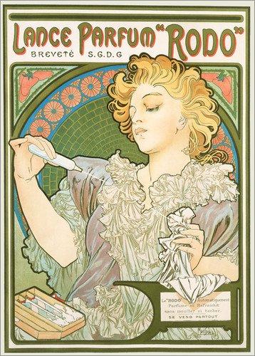 Poster 21 x 30 cm: Lance Parfum Rodo von Alfons Mucha/akg-Images - hochwertiger Kunstdruck, neues Kunstposter
