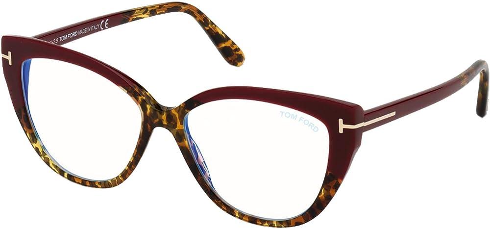 Tom ford, montatura per occhiali da vista per donna FT 5673-B BLUE BLOCK