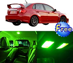 LED Interior Lights 8pcs Green Package Kit Accessories Replacement for 2004-2014 Subaru Impreza WRX STI