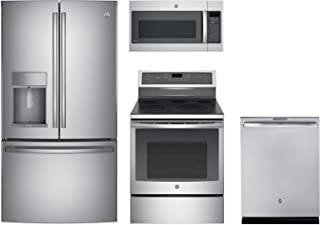 GE Profile 4-Piece Stainless Steel Kitchen Package with 36