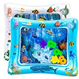 luck sea Tummy Time Inflatable Water Play Mat Playmat Sensory Activity Toy for Infant Toddlers Baby Girl Boy 3 to 18 Months Old