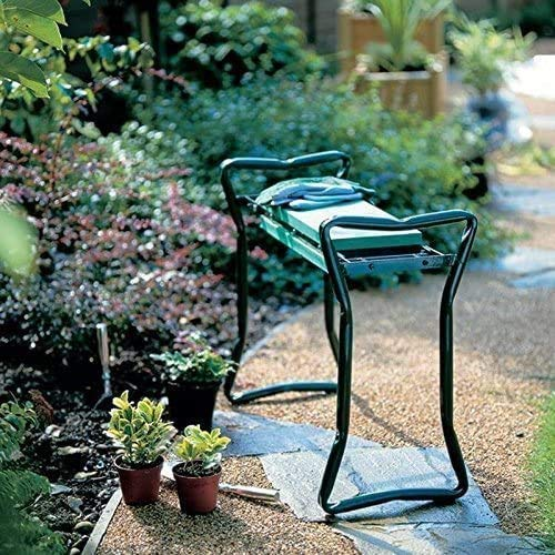 FMXYMC Siège de Jardin à Genoux avec 2 Pochettes à Outils, tabourets de Banc de Jardin Pliables, Chaise à Genoux Portable, Cadeaux pour jardiniers jardiniers Femmes