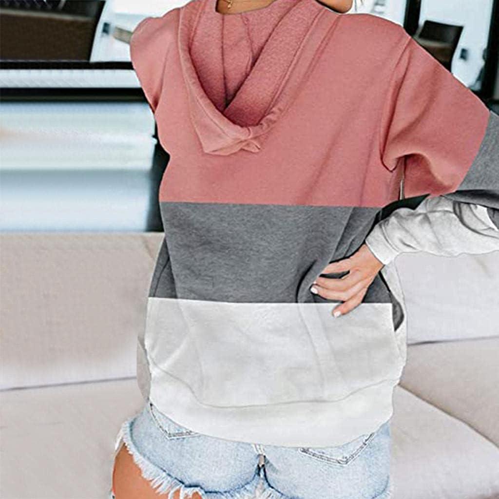 Fudule Zip Up Hoodies for Women, 2021 Fashion Lightweight Full-Zip Sweatshirts with Pockets Fall Long Sleeve Outerwear