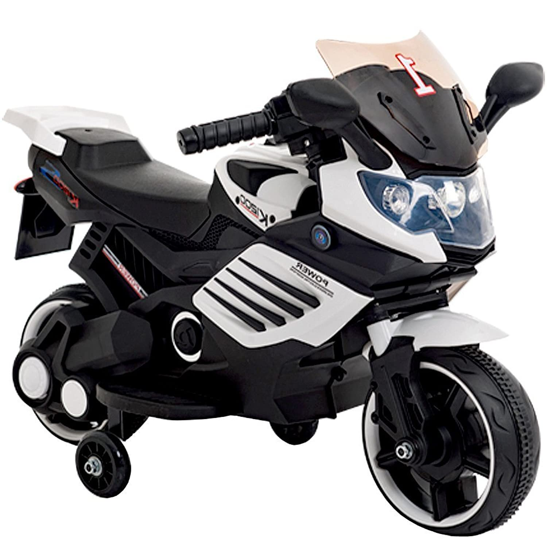 電動乗用バイク 充電式 子供用 キッズバイク 乗用玩具 レーシングバイク バイクプレゼントに最適 かっこいい! CBK-061-WH ホワイト