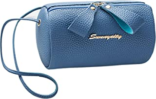 Small Cylinder Zipper Bag for Traveling Crossbody Satchels Bag Zipper Cute Purse