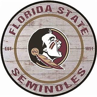 Poeni Aluminum Signs Vintage Metal Signs Florida State Seminoles Wall Deacor for Dorm Coffee Bar Dorm, 11.9X11.9Inches(30x30cm)