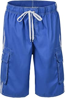 Men's Beachwear Board Shorts Quick Dry with Mesh Lining Swim Trunks