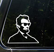 Cool Abe Abraham Lincoln Funny Decal Vinyl Sticker Cars Trucks Vans Walls Laptop  WHITE  5.5 x 5 in CCI708