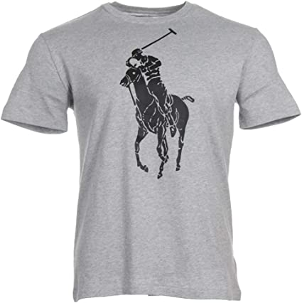 Ralph Lauren Camiseta para hombre con logotipo grande. gris S ...