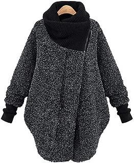 high Collar Solid Color Coat Long Sleeve Wool Coat Women Jacket Winter Parka