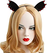 Bodermincer Black Bat Ears Hairband Cosplay Fancy Dress Clothes Masquerade Headbands Women Hair Band Accessories (Black)