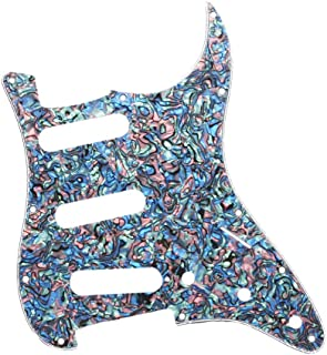 Homyl 3-Ply Electric Guitar Pickguard Scratch Plate SSS Protector for Stratocaster ST SQ Accessory - Colorful