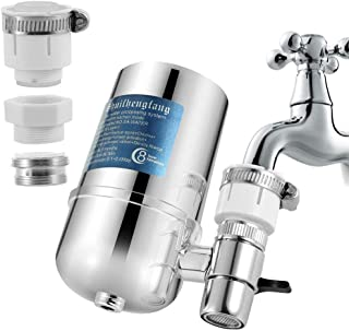 SODIAL Faucet Water Filter Purifier High Ph Alkaline Water Filter System Filtered Water Dispenser for Home Kitchen Tap Bathroom Sink Easy Installation Huge Filter Life