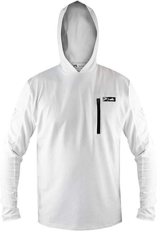 White Small Pelagic Mens Aeroflex Hoody Pro