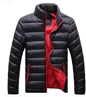 aoliaoyudongyongpin Uomo Autunno Inverno Caldo Outwear Marchio Slim Cappotti Casual Giacca a Vento Trapuntato Giacche