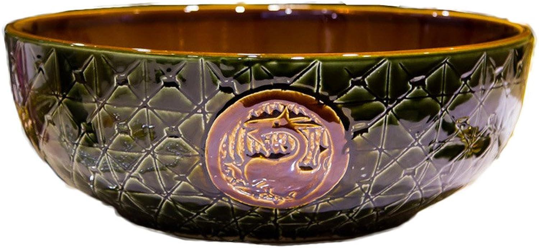 WINZSC Jingdezhen Keramik über Gegenbecken Badezimmer Waschbecken Waschbecken Becken Kunst Carving Dragon Becken Waschbecken LO622441 (Farbe   Only Sink)