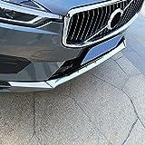para XC60 2018 2019 2020 Cromado Embellecedor Paragolpes Delantero Acero inoxidable 3 piezas (No para XC60 R-Design)