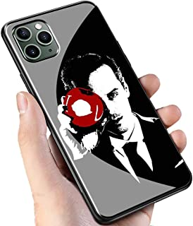 Luxury Black Cover for iPhone 11 Pro Phone Case,9H Tempered Glass Back Cover Soft Silicone Anti Scratch Bumper Design LC-152 221B Sherlock Holmes Protective Case