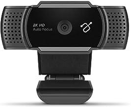Aluratek 2K Ultra HD Webcam with Auto Focus (AWC2KF), Black