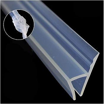 Sello de mampara de ducha, 3 m de largo, para puertas de duchas, flexible, para cristal