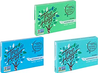 Tree Hugger Mini Sticks Real Rain Forest Chicle Gum Sweetened with 100% Tooth Friendly Xylitol Spearmint, Peppermint and Wintergreen, 14 Count, Variety Pack (3 Packs)