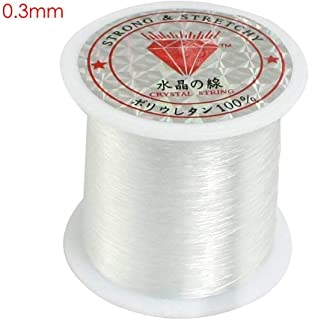 Walmeck Transparent fishing line nylon hand-woven crystal beaded diy material jewelry accessories wholesale Crystal fishing line 0.3mm (transparent)