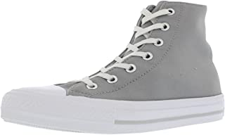 Converse Chuck Taylor All Star Lift Clean Hi Noir/Blanc Cuir Adulte Formateurs Chaussures