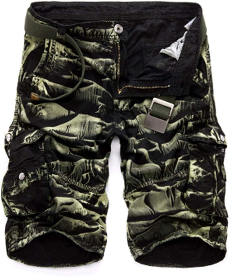 R-Hansets Camouflage Camo Cargo Shorts Mens Shorts Loose Work Shorts Military Short Pants