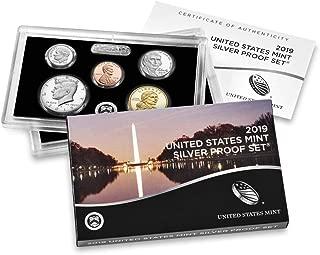 2019 S U.S. Mint 10-coin Silver Proof Set - OGP box & COA Proof