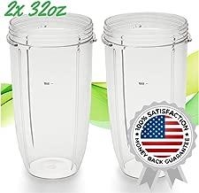 2x Nutribullet Replacement Cups | 32oz Nutribullet Replacement Cup for 600W and 900W Nutribullet Blender | Extra Strong Nutribullet Replacement Parts