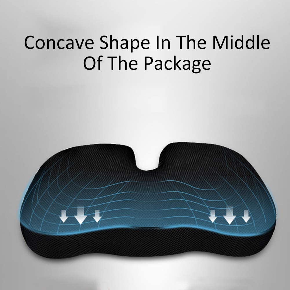 Car Memory Foam Seat Cushion Pad Provides Good Driving Visibility Comfort Driver Seat Cushion for Height for Most for Auto SUV Truck