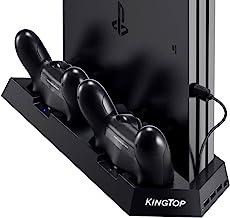 PS4 Universal Charger Controller KINGTOP PS4 / PS4 Pro / PS4 کولر فریزر کوهنوردی عمودی ایستگاه شارژ دوگانه با گارانتی]