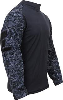 ロスコ コンバットシャツMilitary Combat Shirt (L, ミッドナイトデジタルカモ(MDC))