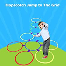 Xisheep Outdoor Toys, Kids Teaching Aid Sports Toy Hopscotch Jump to The Grid Children Toys 28cm, for Home & Pastime