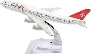 TANG DYNASTY 1/400 16cm スイス航空 Swissair ボーイング B747 高品質合金飛行機プレーン模型 おもちゃ