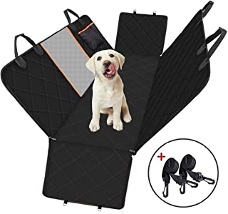 Dog Car Seat Cover, Large Back Pet Car Seat Protectors with Mesh Viewing Window, Storage Pocket, Non-Scratch Waterproof No...