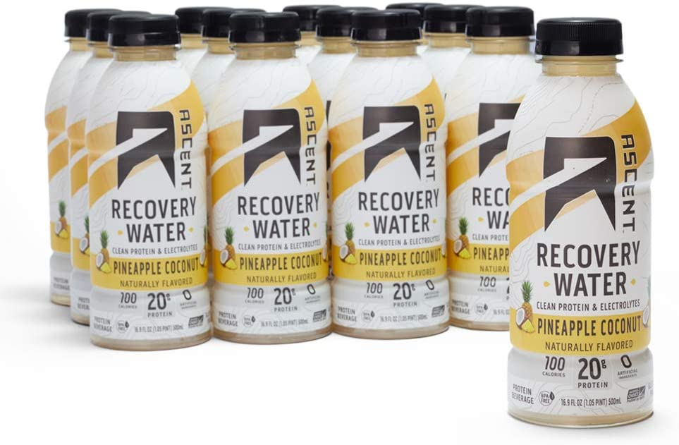 OFFicial site Challenge the lowest price Ascent Protein Recovery Water - Pineapple Coconut B oz fl 16.9