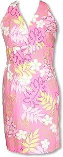 Sexy Halter - Monstera Plumeria Line Art Women's Fitted Dress