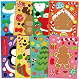 48 PCS Make Your Own Christmas Sticker Sheets for Kids Home Classroom Winter Party Favor Art Craft School Rewards