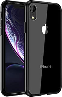 Mkeke Compatible with iPhone XR Case,Clear Anti-Scratch Shock Absorption Cover Case for iPhone XR Black