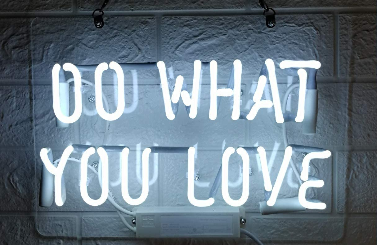Do What You Love Real Glass Neon Light Sign Home Beer Bar Pub Recreation Room Game Lights Windows Garage Wall Signs