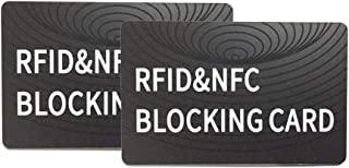 RFID Blocking Cards(2Pack),Professional NFC Contactless Signal Blocker to Protect Credit Debit Card Passport,Perfectly fit for Wallet and Purse
