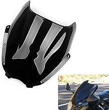 Motocicleta Wave parabrisas Shield viento protector de parabrisas para Hyosung GT125 GT250R GT650R ATK (Negro)