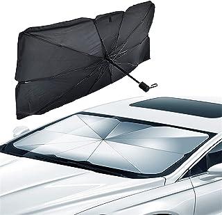 JXWYHH Parapluie Pare-Soleil Pare-Brise de Voiture, Parapluie Pliable Pare-Soleil Pare-Brise de Voiture, Pare-Soleil rétra...