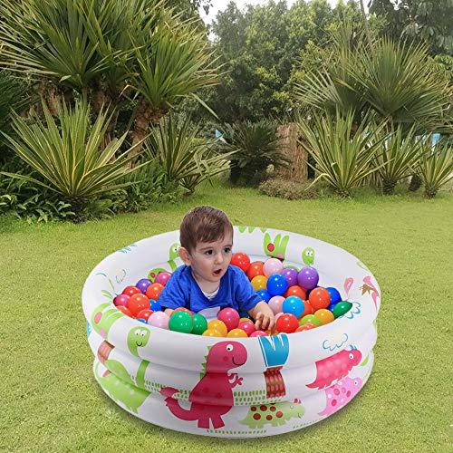 æ— Piscina inflable pequeña de 23.5 x 10 pulgadas, piscina inflable de la bomba de los niños, alberca de bolas de la piscina, centro de juego de agua para interior y exterior, niños/niñas/niño