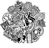 Top Aufkleber!  Set von 31 Harry Potter Black and White Aufkleber Top Qualität - Vinyls Stickers Nicht Vulgär – Fashion, Bombe, Graffiti - Anpassung Laptop, Gepäck, Moto, Fahrrad, Skate